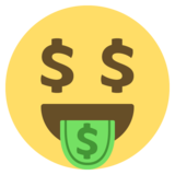 Money-Mouth Face on JoyPixels 2.2.5