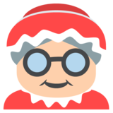 Mrs. Claus: Medium-Light Skin Tone on JoyPixels 2.2.5