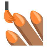 Nail Polish: Medium-Dark Skin Tone on JoyPixels 2.2.5