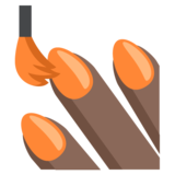 Nail Polish: Dark Skin Tone on JoyPixels 2.2.5