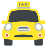Oncoming Taxi on JoyPixels 2.2.5