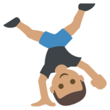 Person Cartwheeling: Medium Skin Tone on JoyPixels 2.2.5