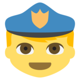Police Officer on JoyPixels 2.2.5