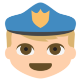 Police Officer: Medium-Light Skin Tone on JoyPixels 2.2.5