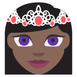 Princess: Dark Skin Tone on JoyPixels 2.2.5