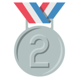 2nd Place Medal on JoyPixels 2.2.5