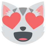 Smiling Cat with Heart-Eyes on JoyPixels 2.2.5