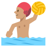 Person Playing Water Polo: Medium Skin Tone on JoyPixels 2.2.5