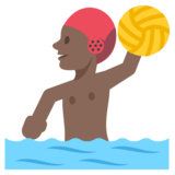Person Playing Water Polo: Dark Skin Tone on JoyPixels 2.2.5