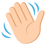 Waving Hand: Medium-Light Skin Tone on JoyPixels 2.2.5