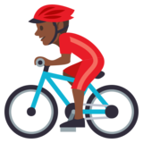Person Biking: Dark Skin Tone on JoyPixels 3.0