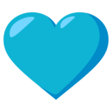 Blue Heart on JoyPixels 3.0
