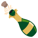 Bottle With Popping Cork on EmojiOne 3.0