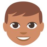 Boy: Medium Skin Tone on JoyPixels 3.0