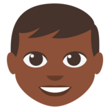 Boy: Dark Skin Tone on EmojiOne 3.0