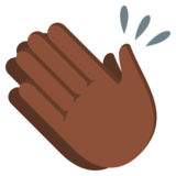 Clapping Hands: Dark Skin Tone on JoyPixels 3.0