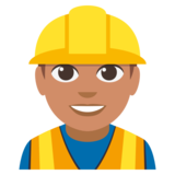 Construction Worker: Medium Skin Tone on JoyPixels 3.0