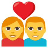 Couple with Heart: Woman, Man on JoyPixels 3.0
