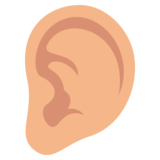 Ear: Medium-Light Skin Tone on JoyPixels 3.0