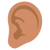 Ear: Medium Skin Tone on JoyPixels 3.0