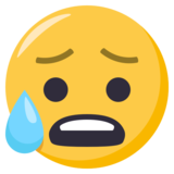 Anxious Face With Sweat on EmojiOne 3.0
