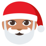 Santa Claus: Medium Skin Tone on JoyPixels 3.0