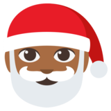 Santa Claus: Medium-Dark Skin Tone on JoyPixels 3.0