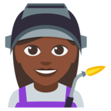 Woman Factory Worker: Dark Skin Tone on EmojiOne 3.0