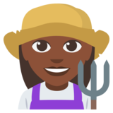 Woman Farmer: Dark Skin Tone on EmojiOne 3.0