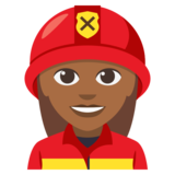 Woman Firefighter: Medium-Dark Skin Tone on JoyPixels 3.0