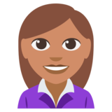 Woman Office Worker: Medium Skin Tone on EmojiOne 3.0