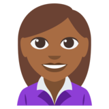 Woman Office Worker: Medium-Dark Skin Tone on EmojiOne 3.0