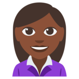 Woman Office Worker: Dark Skin Tone on JoyPixels 3.0