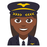 Woman Pilot: Dark Skin Tone on EmojiOne 3.0