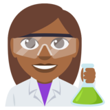 Woman Scientist: Medium-Dark Skin Tone on JoyPixels 3.0