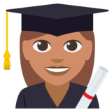 Woman Student: Medium Skin Tone on EmojiOne 3.0