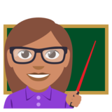 Woman Teacher: Medium Skin Tone on EmojiOne 3.0
