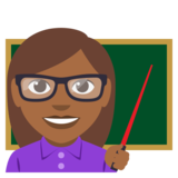 Woman Teacher: Medium-Dark Skin Tone on EmojiOne 3.0