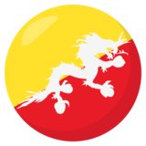 Flag: Bhutan on JoyPixels 3.0