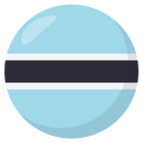 Flag: Botswana on JoyPixels 3.0