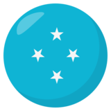 Flag: Micronesia on JoyPixels 3.0