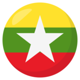 Flag: Myanmar (Burma) on JoyPixels 3.0