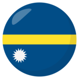 Flag: Nauru on JoyPixels 3.0