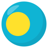 Flag: Palau on JoyPixels 3.0