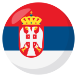 Flag: Serbia on JoyPixels 3.0