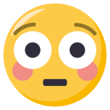 Flushed Face on EmojiOne 3.0
