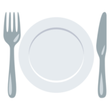 Fork and Knife with Plate on JoyPixels 3.0