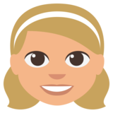 Girl: Medium-Light Skin Tone on EmojiOne 3.0