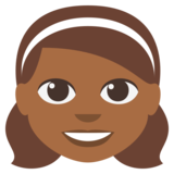 Girl: Medium-Dark Skin Tone on EmojiOne 3.0