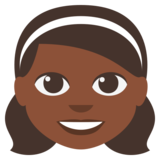 Girl: Dark Skin Tone on JoyPixels 3.0